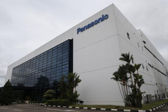 A general view of the building which houses Panasonic's first indoor vegetable farm in Singapore