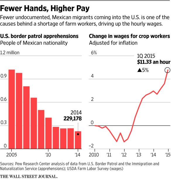 immigration and farmworker wages