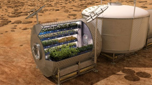 The concept Martian farm Dr. ended her presentation by showing