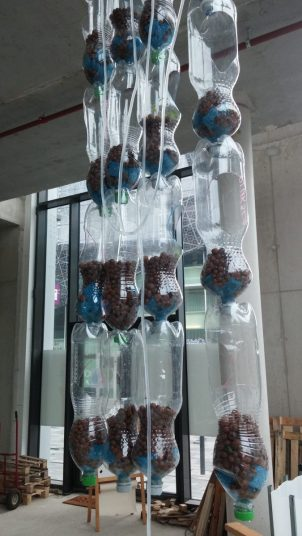 bottle towers for aquaponics