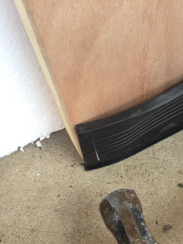 weatherproofing strip for hydroponics in a garage