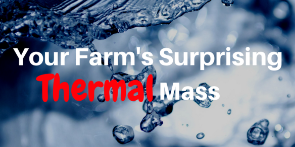 thermal mass water as a passive heater in hydroponics